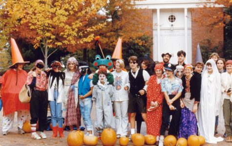 Dressed-up students in Red Square on Halloween, 1984.(Lakeside Archives)