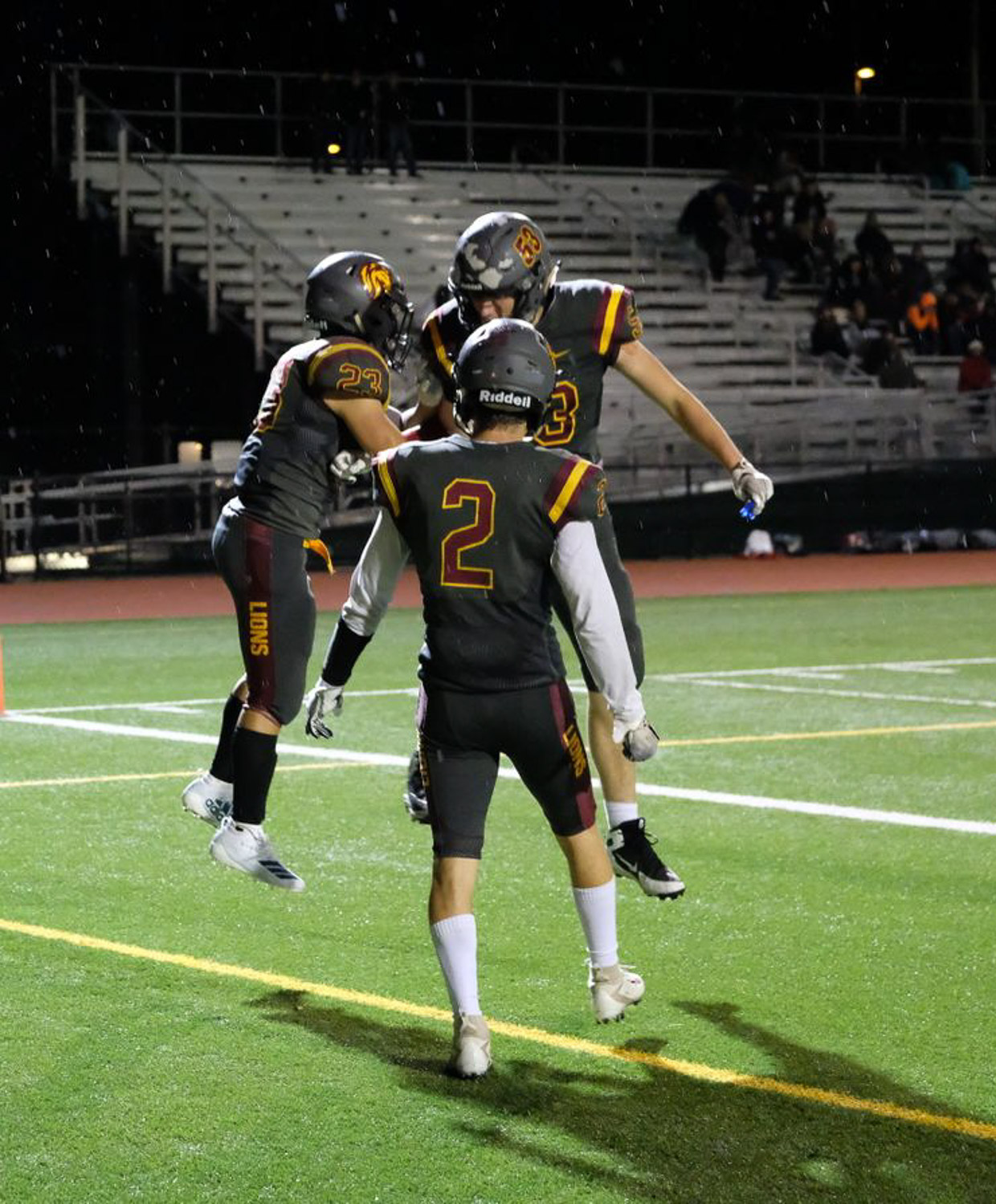 Lakeside celebrates its dominating win over Kings School(Diona Leach)