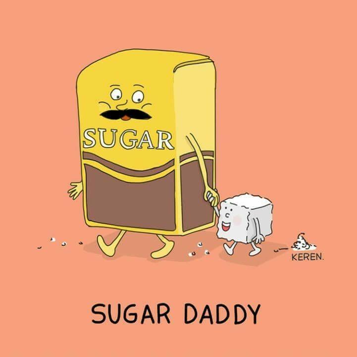 Literal sugar baby cartoon(Pinterest)