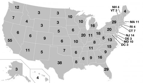 Map of electoral votes per state. (history.com)