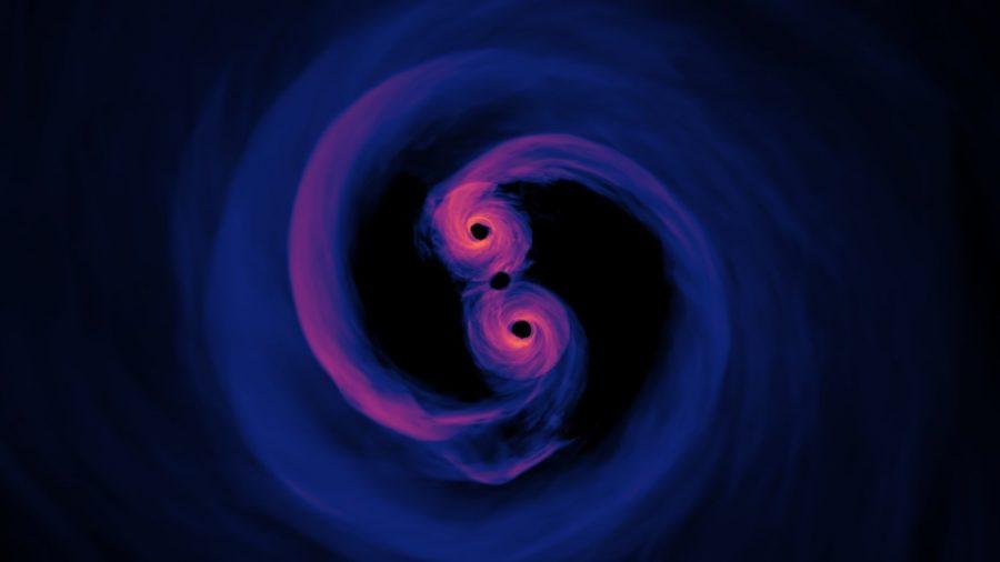 NASA's visualization of merging black hole(NASA scientific visualization studio)