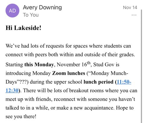 Screenshot of invitation to Monday Zoom lunches(Lee)