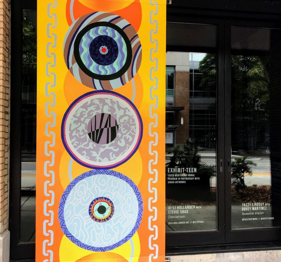 Lakeside Student Unveils Downtown Mural